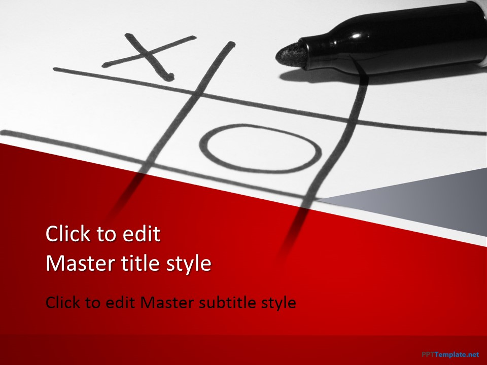 Free Tic Tac Toe PowerPoint Template - sample tic tac toe template