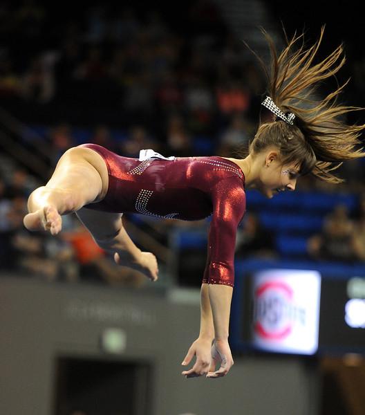 Bama Gymnastics Springs to Super Six Competition - Roll \u0027Bama Roll