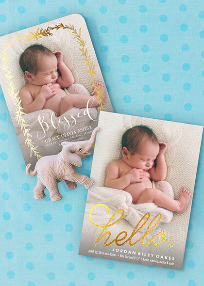 Birth Announcements Simply to Impress