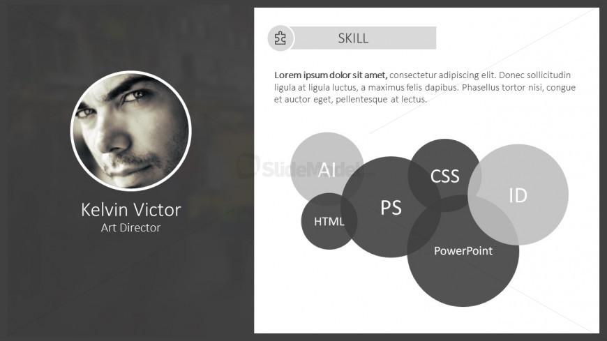 template cv type journal powerpoint