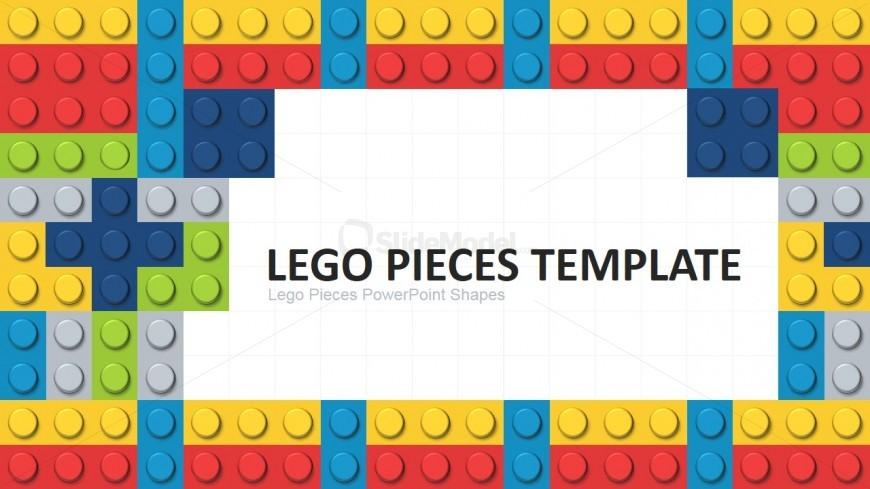 Free 3d Pile Of Bricks Wallpaper The Lego Group Powerpoint Template Slidemodel