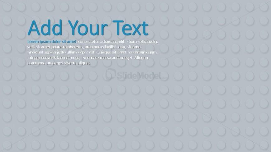 Grey Background Theme Lego for PowerPoint - SlideModel