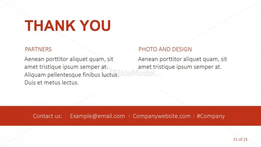 Thank You Page For Cropped Photos Template - SlideModel