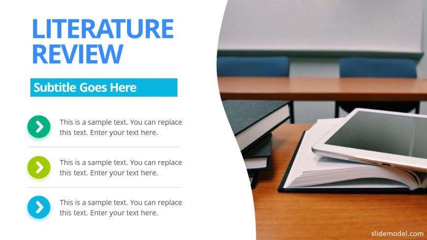 Literature Review Slide PowerPoint Template - SlideModel