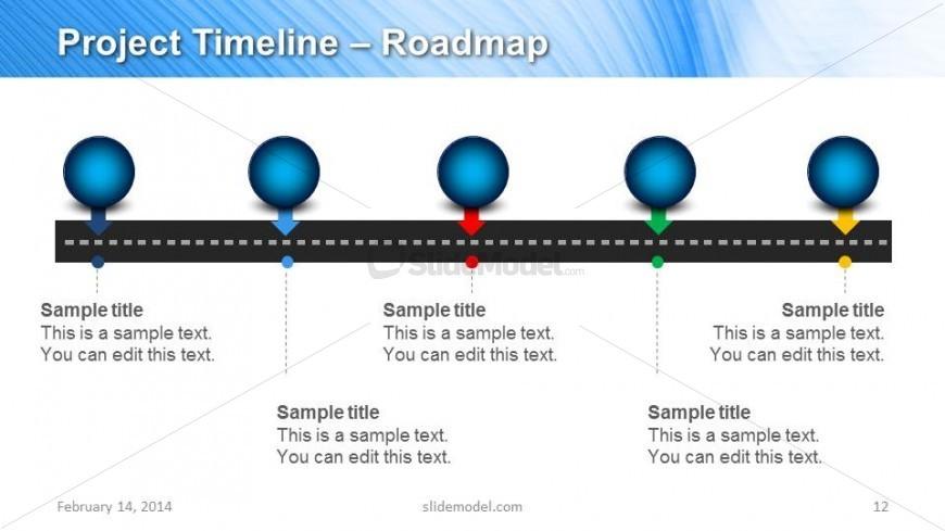 Horizontal Project Timeline Slide Design for PowerPoint - SlideModel - timeline slide powerpoint