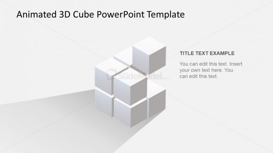3D Cube PowerPoint Template - SlideModel