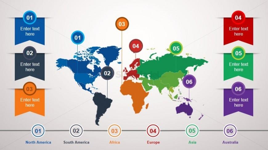 Animated World Map PowerPoint Slide - SlideModel