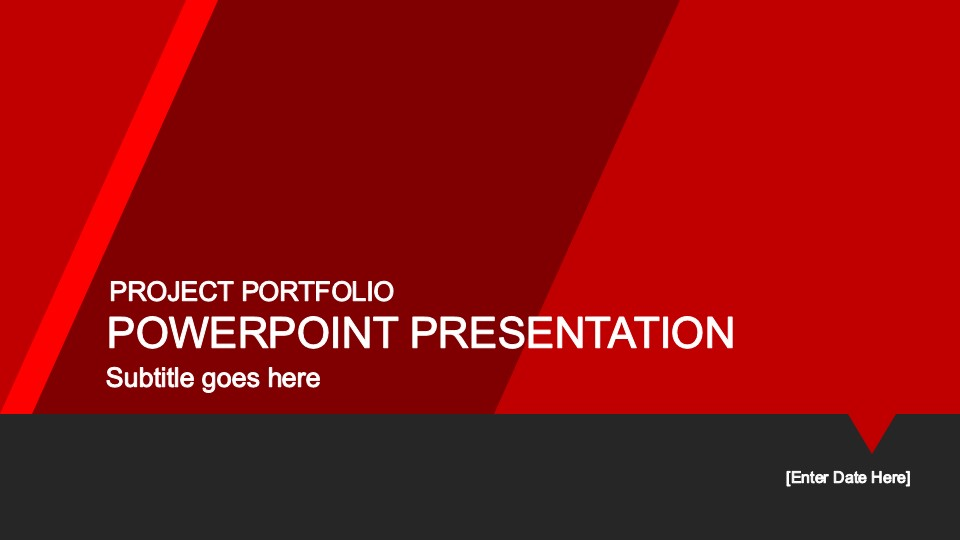 Red Portfolio PowerPoint Template - SlideModel