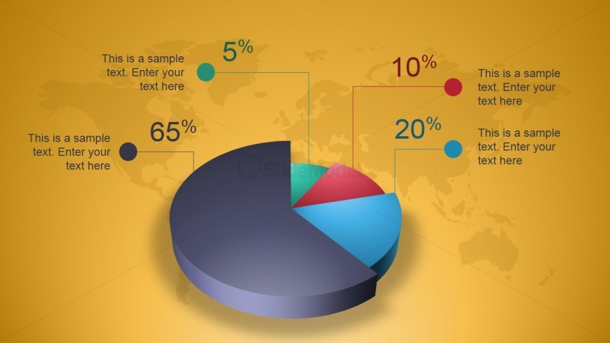 Creative 3D Perspective Pie Chart for PowerPoint - SlideModel