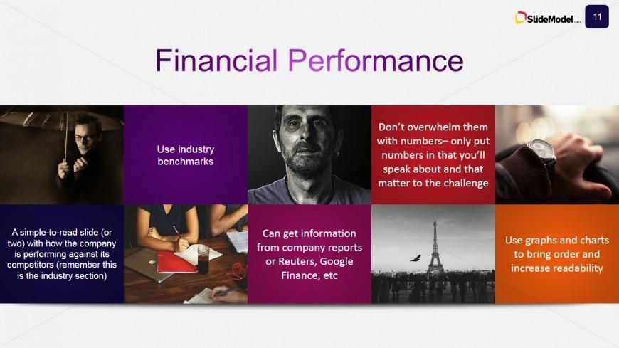 Financial Performance Slide Design for Case Study - SlideModel - powerpoint flyer template