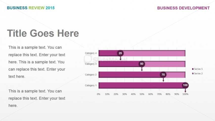 Quota Achievement by Product and Services - SlideModel - business review template