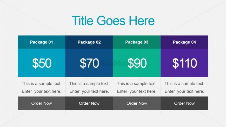 Sales Pricing Table Slide for PowerPoint - SlideModel