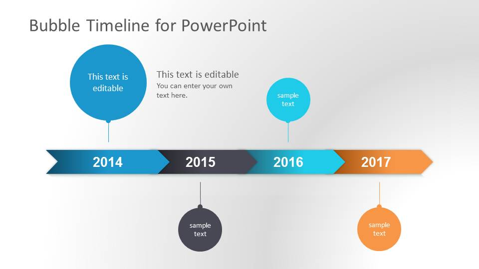 Bubble Timeline PowerPoint Template - SlideModel
