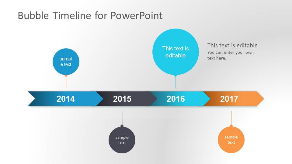 Bubble Timeline PowerPoint Template - SlideModel