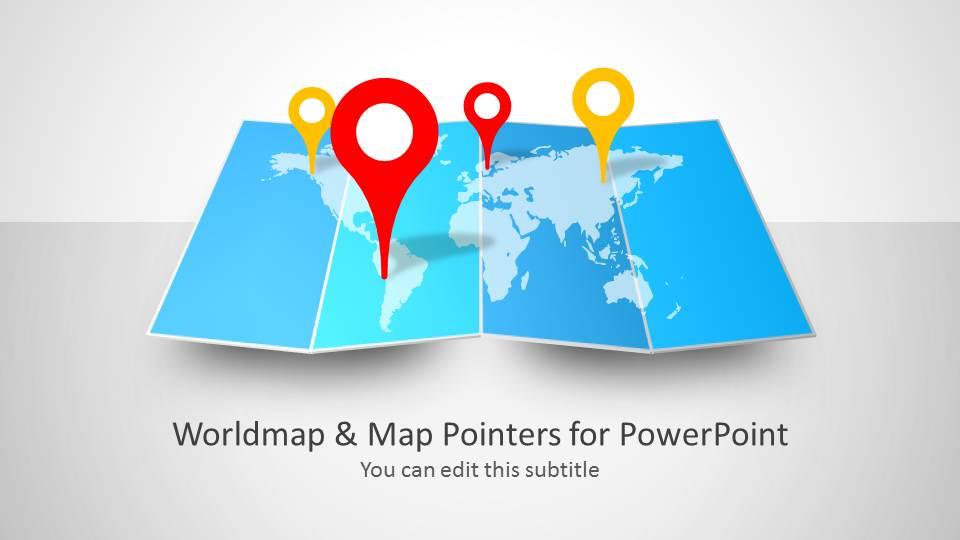 Worldmap  Map Pointers for PowerPoint - SlideModel