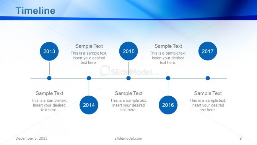 Corporate Timeline Slide Design for PowerPoint - SlideModel - sample business timeline