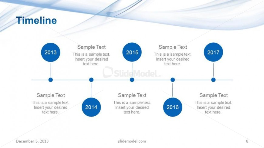 Light Company Project Timeline Slide Design - SlideModel - sample business timeline