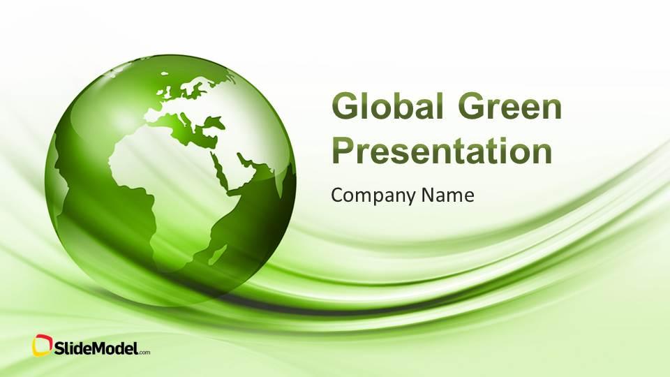 Global Green PowerPoint Template - SlideModel - global powerpoint template