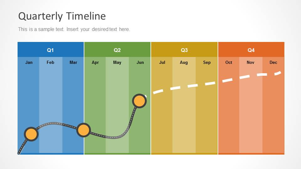 Quarterly Timeline Template for PowerPoint - SlideModel - sample quarterly calendar templates