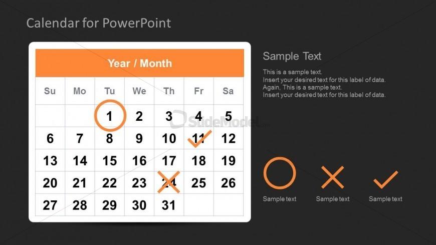 Calendar Template for PowerPoint Task Management - SlideModel