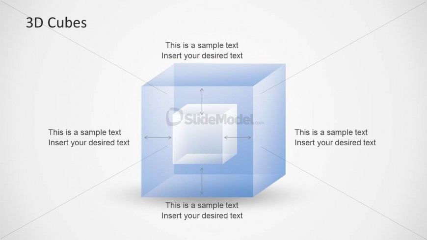 3D Cube Inside Another Cube Slide Design for PowerPoint - SlideModel