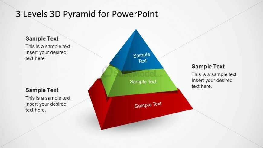3D Pyramid Diagram Slide for PowerPoint - SlideModel - diagram of a pyramid