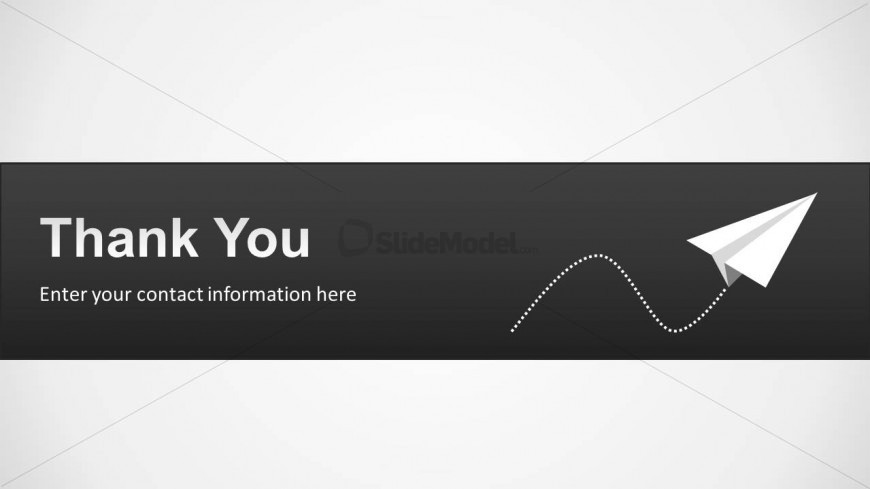Thank You Slide Design for PowerPoint with Paper Plane - SlideModel