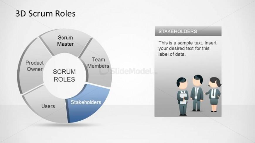 3D Agile Scrum Roles PowerPoint Diagram Stakeholders - SlideModel