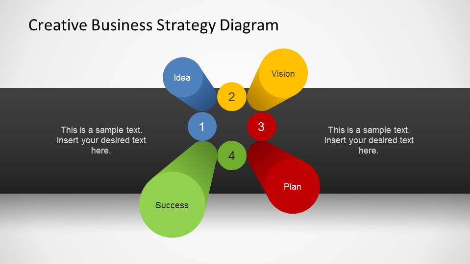 Business Strategy 3D Pillars Diagram for PowerPoint - SlideModel