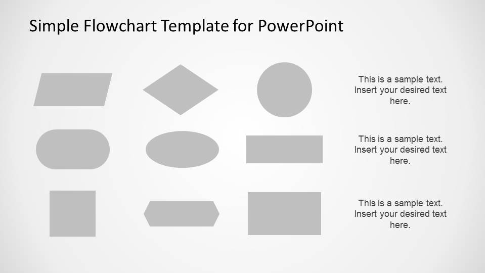 Simple Flowchart Template for PowerPoint - SlideModel - flowchart template