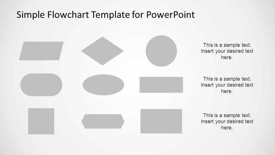 Simple Flowchart Template for PowerPoint - SlideModel - flow chart template