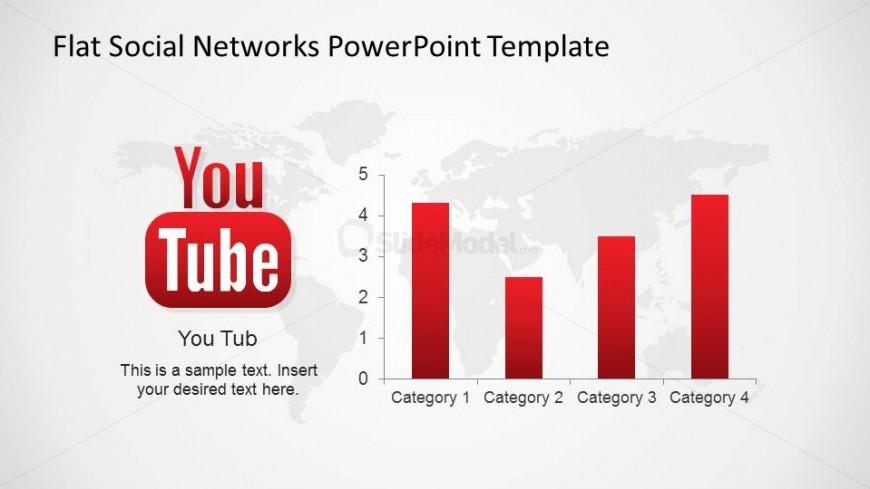 YouTube Social Network Bar Chart Metrics - SlideModel - bar chart template