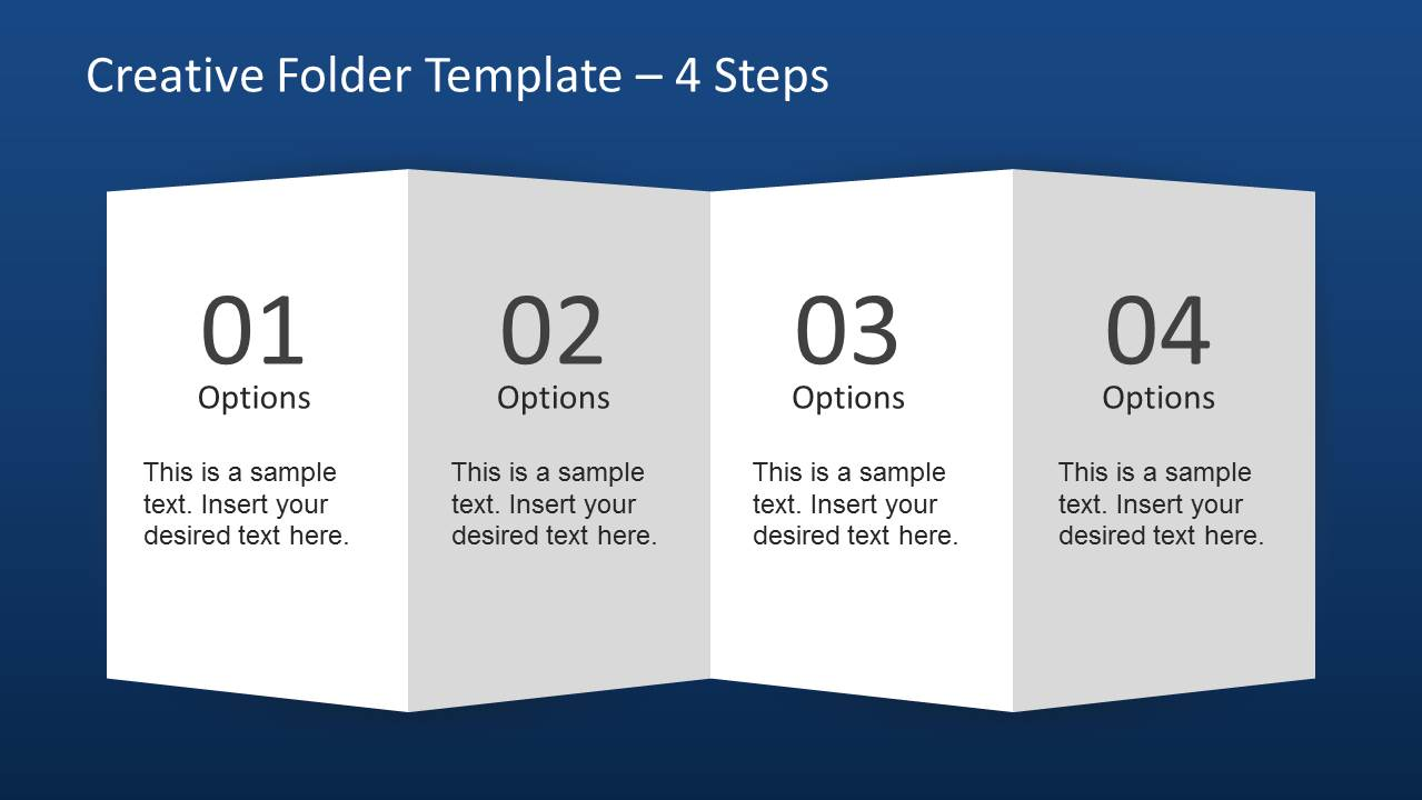 Creative Folder Template Layout For Powerpoint Slidemodel