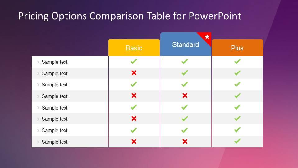 comparison ppt template