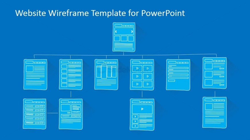 Website Sitemap PowerPoint Template - SlideModel