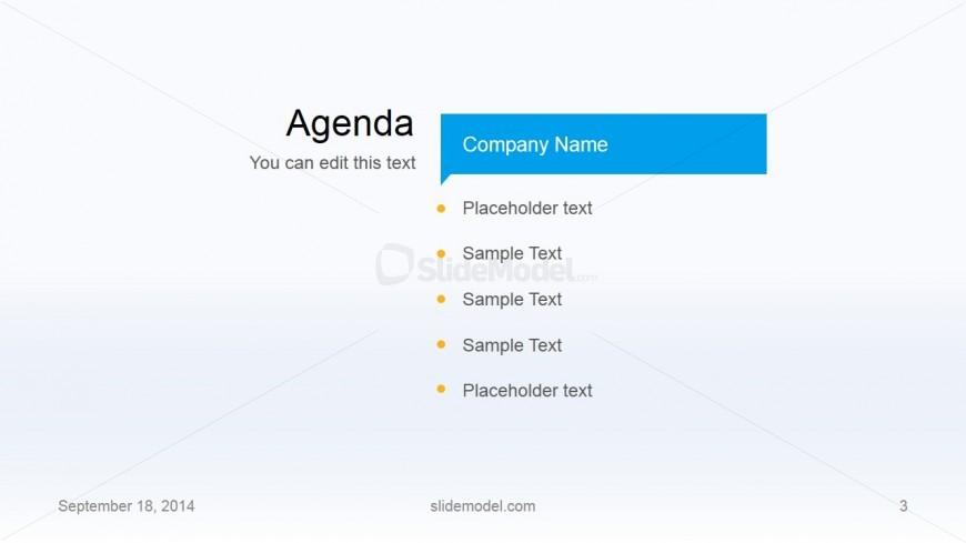 Flat Business Template Agenda Slide Design - SlideModel