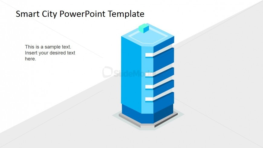 Smart Office Concept 3D PowerPoint Icon - SlideModel - 3d powerpoint template