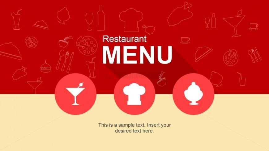 Cool Restaurant Menu PowerPoint Template - SlideModel