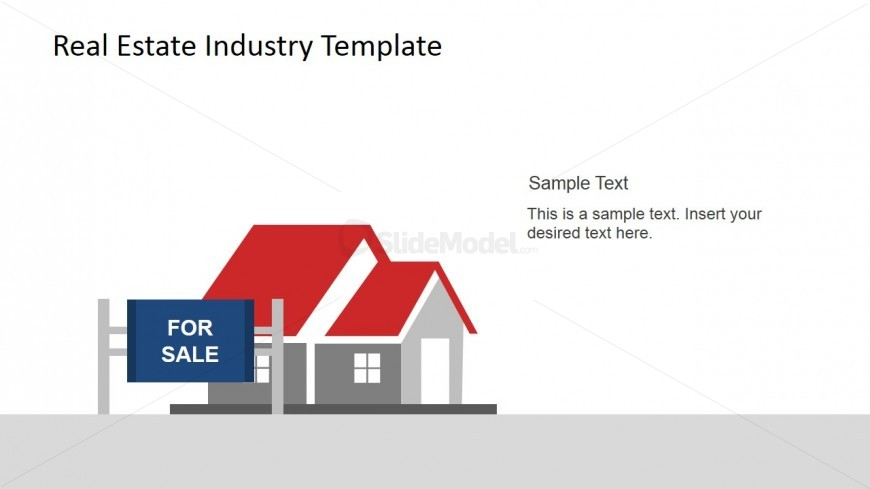 For Sale Sign and House PowerPoint Scene - SlideModel - house for sale sign template