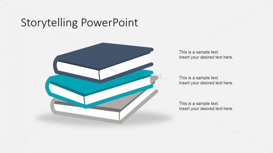 Story Books Shapes for PowerPoint - SlideModel - Powerpoint Books