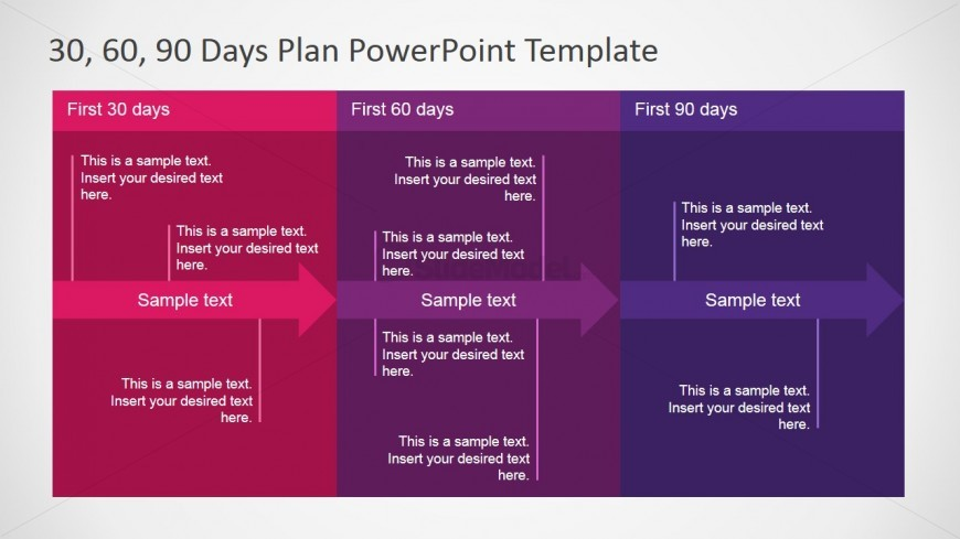 30 60 90 Plan Detail for PowerPoint - SlideModel