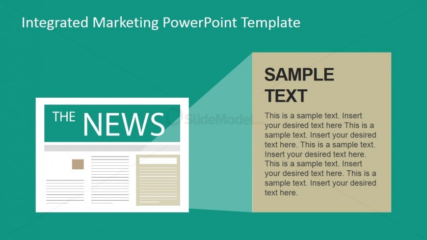 News Traditional Marketing Channel Clipart for PowerPoint - SlideModel - newspaper powerpoint template