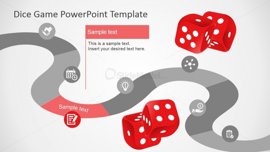 Dice Games Slide Design for PowerPoint Timeline - SlideModel