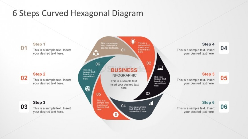 6 Steps Process Diagrams Templates for PowerPoint - SlideModel - diagrams template