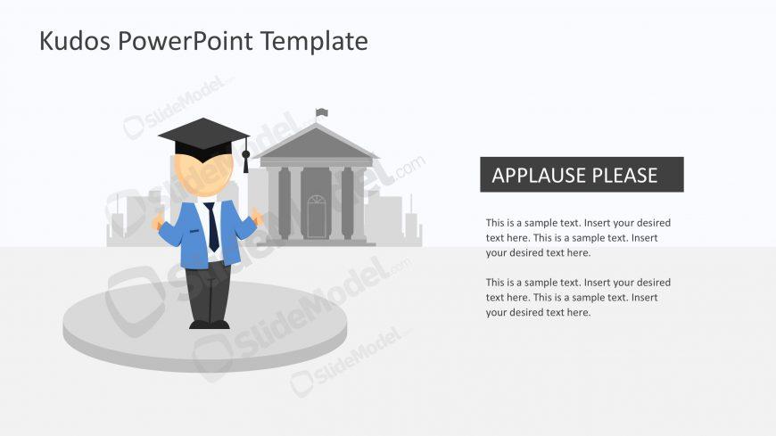 Mike Graduation Cap Graphic Slides - SlideModel