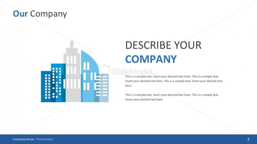 Company Background PowerPoint Template - SlideModel