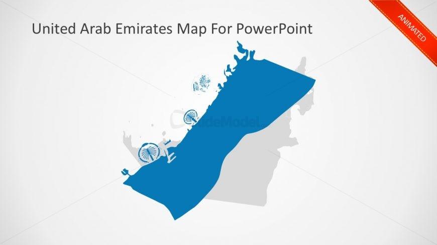 Animated UAE Business Map - SlideModel - animated maps