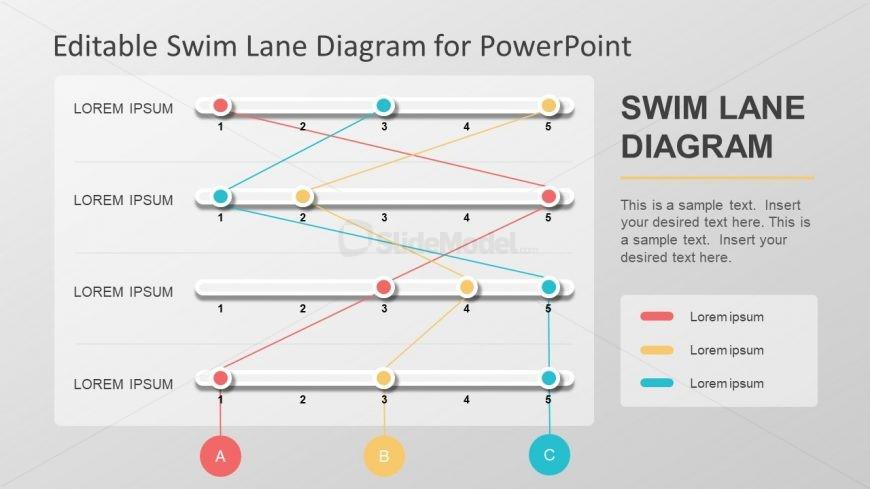 Swimlane Process Flow Diagram Slide - SlideModel