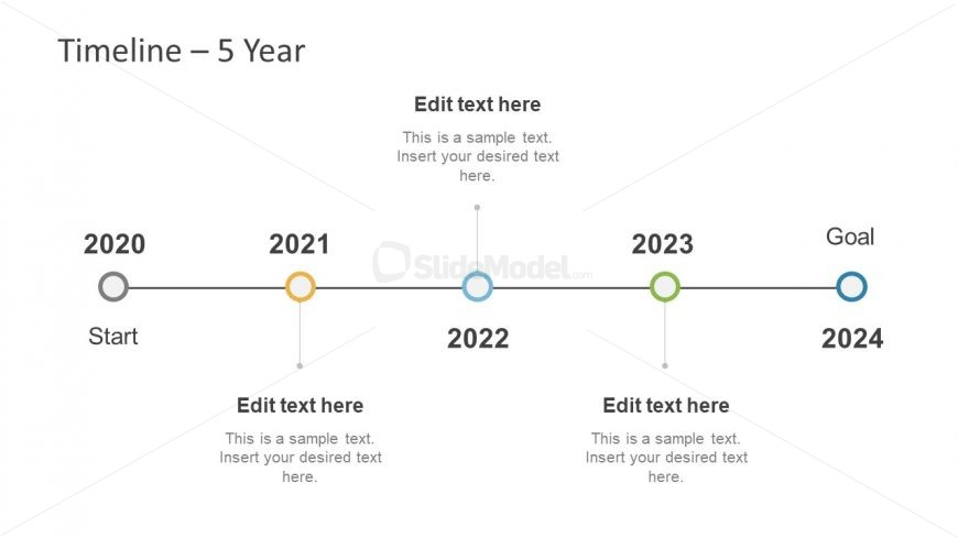 Project Timeline of Five Years in PowerPoint - SlideModel