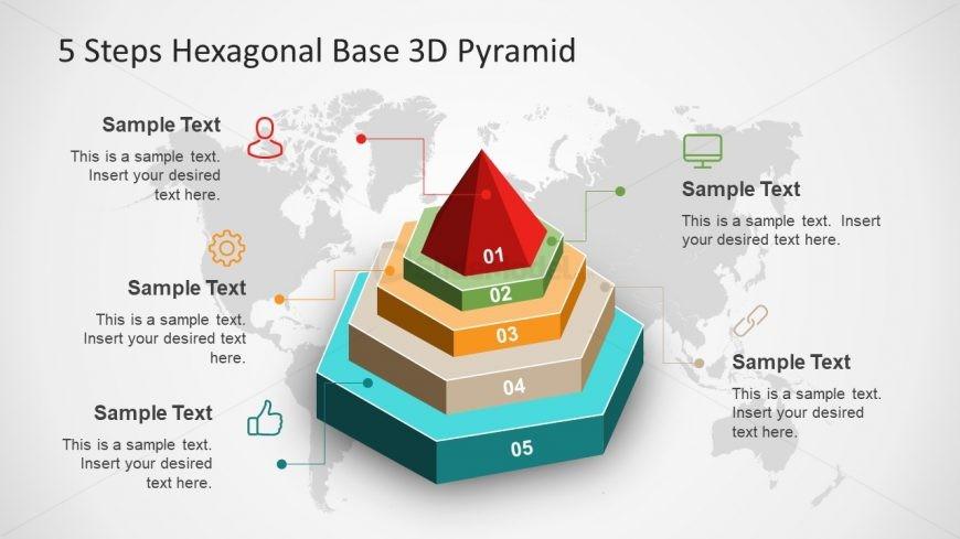 5 Steps Diagram of Hexagonal Pyramid - SlideModel